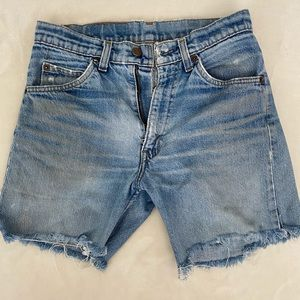 Vintage orange tab Levi jean shorts